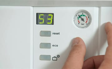 Display panel on a standard combi boiler