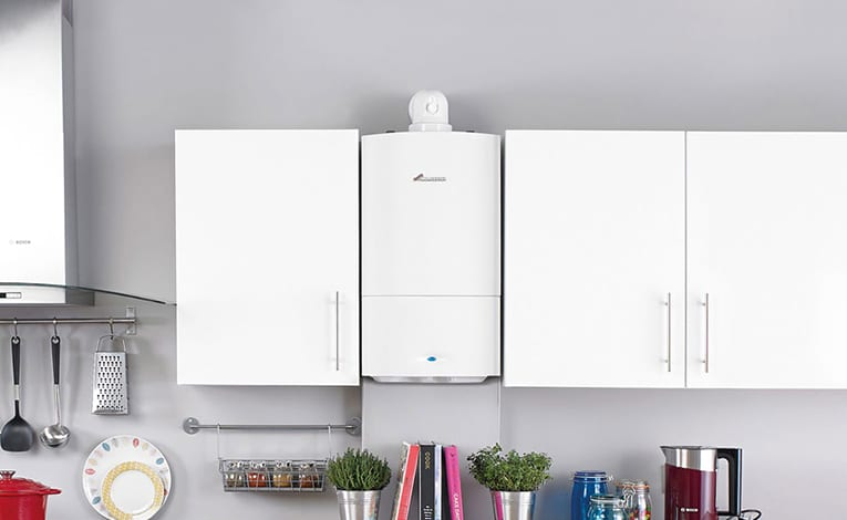 Space saving boiler by Worcester in the kitchen