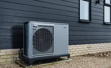 Air source heat pump matching building aesthetic