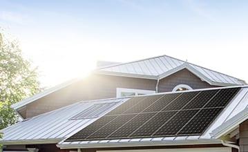 LG roof mounted solar panels